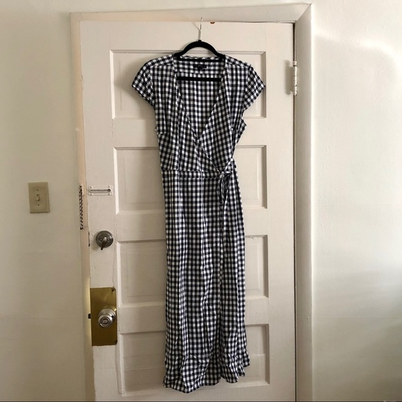 J. Crew Dresses & Skirts - J.Crew - Midi wrap dress in soft rayon gingham